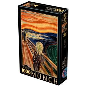 "D-Toys (72832-MU01) - Edvard Munch: ""The Scream"" - 1000 pieces puzzle"