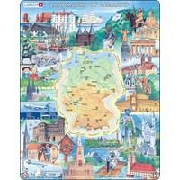 "Larsen (KS2-GB) - ""Landmarks of Germany - GB"" - 80 pieces puzzle"