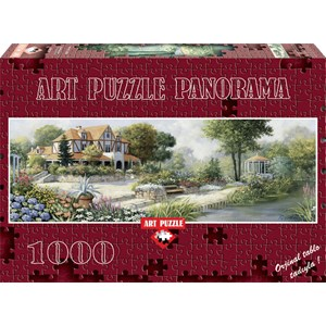 "Art Puzzle (4333) - Peter Motz: ""English Cottage"" - 1000 pieces puzzle"