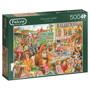 """Falcon (11174) - Jim Mitchell: """"Holiday Camp"""" - 500 pieces puzzle"""