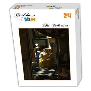 "Grafika Kids (00156) - Johannes Vermeer: ""The Loveletter, 1669-1670"" - 24 pieces puzzle"