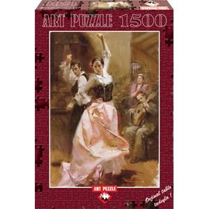 """Art Puzzle (4600) - Pino Daeni: """"Dancing in Barcelona"""" - 1500 pieces puzzle"""
