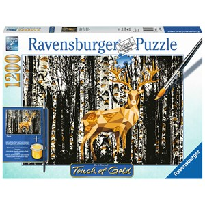 "Ravensburger (19936) - ""Deer in the Forest"" - 1200 pieces puzzle"