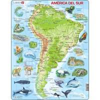 """Larsen (A25-ES) - """"South America - ES"""" - 65 pieces puzzle"""