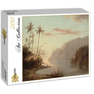 "Grafika (02017) - Camille Pissarro: ""Creek in St. Thomas, Virgin Islands, 1856"" - 300 pieces puzzle"