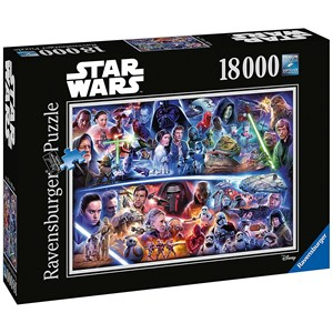 """Ravensburger (17827) - """"Star Wars Galactic Time Travel"""" - 18000 pieces puzzle"""