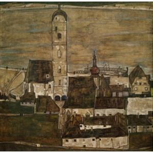 """Grafika (00213) - Egon Schiele: """"Stein an der Donau II, 1913"""" - 1500 pieces puzzle"""