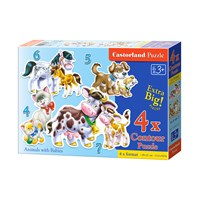 """Castorland (B-04218) - """"Each one its small"""" - 4 5 6 7 pieces puzzle"""