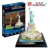 """Cubic Fun (L505H) - """"Statue of Liberty + LED"""" - 37 pieces puzzle"""