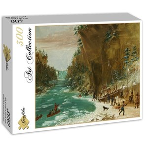 """Grafika (02226) - George Catlin: """"The Expedition Encamped below the Falls of Niagara. January 20, 1679, 1847-1848"""" - 300 pieces puzzle"""