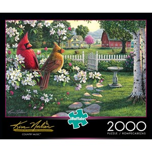"Buffalo Games (2046) - Kim Norlien: ""Country Music"" - 2000 pieces puzzle"