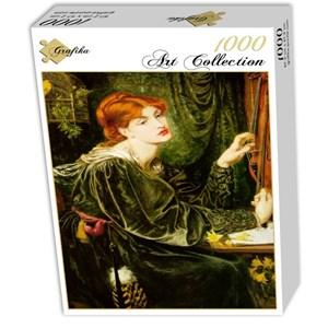 "Grafika (00223) - Dante Gabriel Rossetti: ""Veronica Veronese"" - 1000 pieces puzzle"