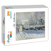 "Grafika (00226) - Claude Monet: ""The Magpie, 1868-1869"" - 24 pieces puzzle"