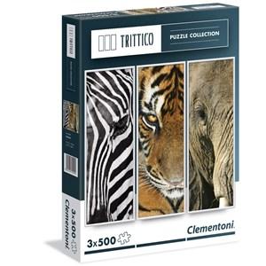 "Clementoni (39307) - ""Animals"" - 500 pieces puzzle"