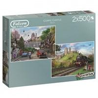 "Falcon (11152) - ""Around Britain, Corfe Castle"" - 500 pieces puzzle"