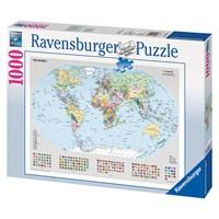 """Ravensburger (15652) - """"Political World Map"""" - 1000 pieces puzzle"""