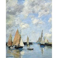 """Puzzle Michele Wilson (A506-250) - Eugène Boudin: """"The Jetty at High Tide"""" - 250 pieces puzzle"""
