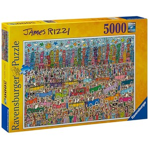 """Ravensburger (17427) - James Rizzi: """"Nothing is as Pretty as a Rizzi City"""" - 5000 pieces puzzle"""