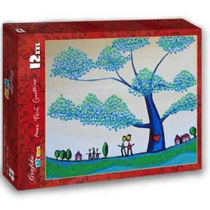 "Grafika Kids (01793) - Anne Poire, Patrick Guallino: ""Feuilles Protectrices"" - 12 pieces puzzle"