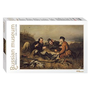 """Step Puzzle (79216) - Vasily Perov: """"Hunters stop to Rest"""" - 1000 pieces puzzle"""