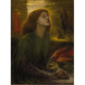 """Grafika (00225) - Dante Gabriel Rossetti: """"Beata Beatrix, 1872"""" - 2000 pieces puzzle"""