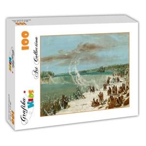 "Grafika Kids (01504) - George Catlin: ""Portage Around the Falls of Niagara at Table Rock, 1847-1848"" - 100 pieces puzzle"
