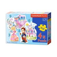 """Castorland (B-005031) - """"World of Princesses"""" - 3 4 6 9 pieces puzzle"""