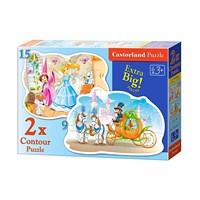 """Castorland (B-020027) - """"Cinderella"""" - 9 15 pieces puzzle"""