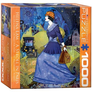 """Eurographics (8000-0515) - Helena Lam: """"A Stroll in Paris"""" - 1000 pieces puzzle"""