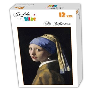 """Grafika Kids (00149) - Johannes Vermeer: """"The Girl with a Pearl Earring, 1665"""" - 12 pieces puzzle"""