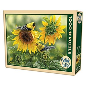 "Cobble Hill (51818) - Rosemary Millette: ""Sunflowers and Goldfinches"" - 1000 pieces puzzle"