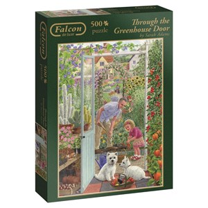 "Falcon (11115) - Sarah Adams: ""Through the Greenhouse Door"" - 500 pieces puzzle"