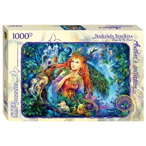 """Step Puzzle (79537) - Nadezhda Strelkina: """"Fairy of the Forest"""" - 1000 pieces puzzle"""