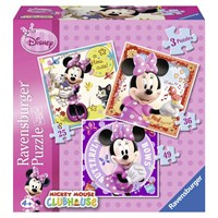 "Ravensburger (07244) - ""Minnie"" - 25 36 49 pieces puzzle"