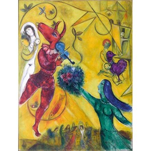 """Puzzle Michele Wilson (W64-12) - Marc Chagall: """"The Dance"""" - 12 pieces puzzle"""