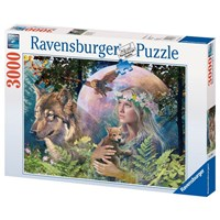 "Ravensburger (17033) - ""Wolves in the Moonlight"" - 3000 pieces puzzle"