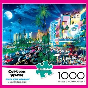 "Buffalo Games (11526) - Alexander Chen: ""South Beach Moonlight (Cartoon World)"" - 1000 pieces puzzle"