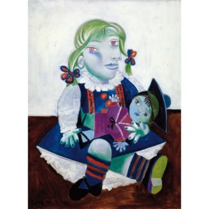 "Puzzle Michele Wilson (W91-12) - Pablo Picasso: ""Maya with the Doll"" - 12 pieces puzzle"