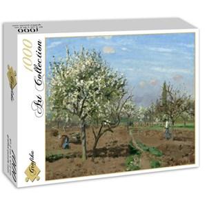 "Grafika (02028) - Camille Pissarro: ""Orchard in Bloom, Louveciennes, 1872"" - 1000 pieces puzzle"