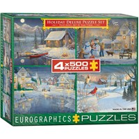 "Eurographics (8904-0982) - Sam Timm: ""Holiday Deluxe Puzzle Set"" - 500 pieces puzzle"