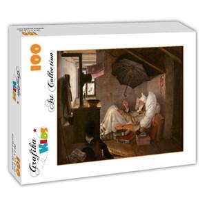 "Grafika Kids (01257) - Carl Spitzweg: ""The Poor Poet, 1839"" - 100 pieces puzzle"