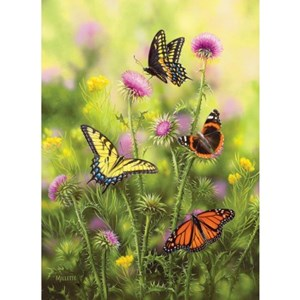 "SunsOut (30921) - Rosemary Millette: ""Butterflies and Thistle"" - 500 pieces puzzle"