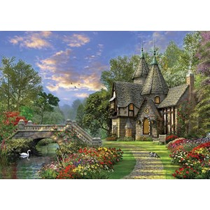 """KS Games (11355) - Dominic Davison: """"The Old Waterway Cottage"""" - 1000 pieces puzzle"""