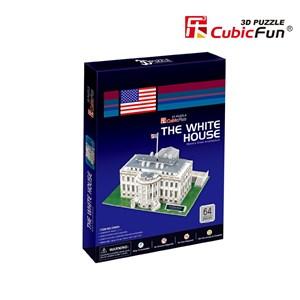 """Cubic Fun (C060H) - """"Washington, The White House"""" - 65 pieces puzzle"""
