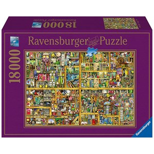 "Ravensburger (17825) - Colin Thompson: ""Magical Bookcase"" - 18000 pieces puzzle"