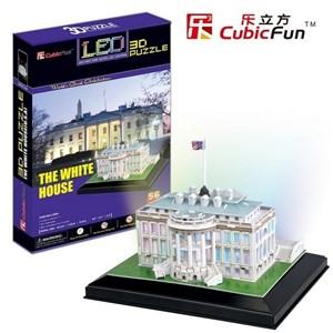 "Cubic Fun (L504H) - ""The White House"" - 56 pieces puzzle"
