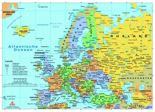 """PuzzelMan (125) - """"Map of Europe"""" - 99 pieces puzzle"""