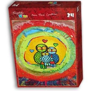 """Grafika Kids (01743) - Anne Poire, Patrick Guallino: """"Le Nid Porte-bonheur"""" - 24 pieces puzzle"""