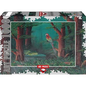 """Art Puzzle (61015) - Ahmet Yesil: """"The Guest of the Forest"""" - 1000 pieces puzzle"""
