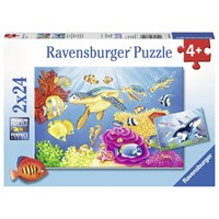 "Ravensburger (07815) - ""Colorful Underwater World"" - 24 pieces puzzle"